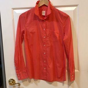 J Crew Coral Boy Shirt Size 6 EUC